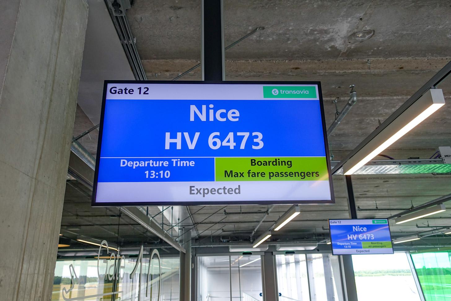 Met Transavia naar Nice